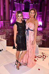 Left to right, Zoe Hardman and Laura Pradelska at the Floral Ball in aid of Sheba Medical Center hosted by Laura Pradelska and Zoe Hardman and held at One Marylebone, 1 Marylebone Road, London England. 14 March 2017.