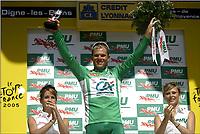 Sykkel, 14. juli 2005, TOUR DE FRANCE 2005 / RONDE VAN FRANKRIJK 2005 / SPORT CYCLING CYCLISME WIELRENNEN / <br /> ETAPE STAGE RIT 12 : BRIANCON - DIGNE-LES-BAINS / THOR HUSHOVD<br /> FOTO: DIGITALSPORT<br /> NORWAY ONLY