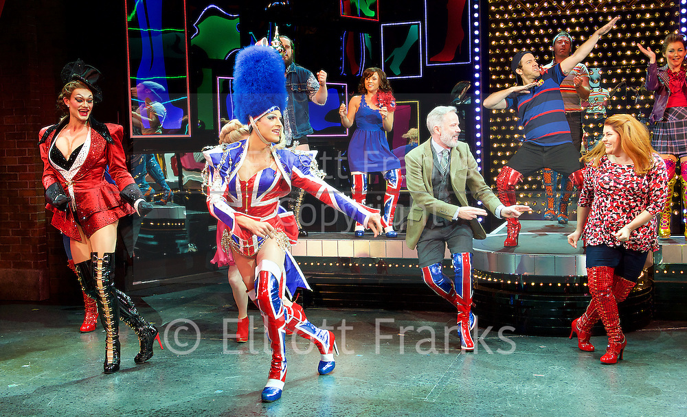 Kinky Boots by Harvey Fierstein <br /> A new musical based on a true story <br /> Fierstein <br /> UK premi&egrave;re <br /> at The Adelphi Theatre, London, Great Britain  <br /> press photocall <br /> 10th September 2015<br /> <br /> <br /> <br /> Company <br /> <br /> <br /> Choreography by Jerry Mitchell <br /> <br /> <br /> <br /> Photograph by Elliott Franks <br /> Image licensed to Elliott Franks Photography Services