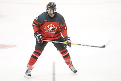 Kevin Bahl (Ottawa 67's) seen representing Team Canada Red at the 2016 World Under-17 Challenge in Sault Ste. Marie, Ont. Photo by Kenneth Armstrong for CHL Images