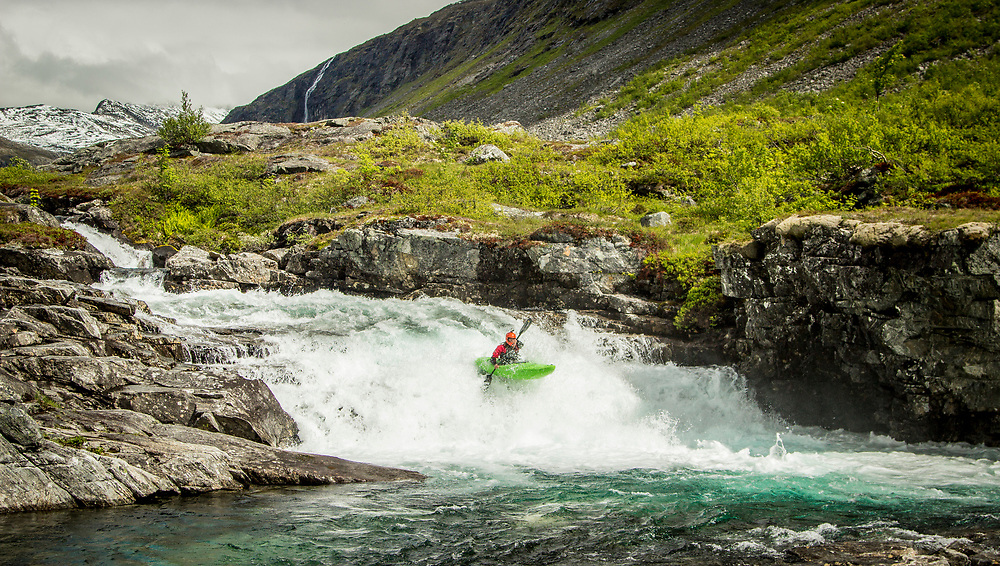 Whitewater kayaking pictures from Norway and Canada. Dropping waterfalls and slides in plastic kayaks. Enjoying the views in sea kayaks.