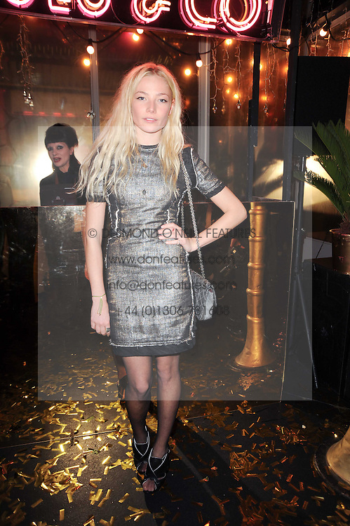 CLARA PAGET at a party to celebrate the launch of Lulu & Co held at the Fifth Floor Cafe, Harvey Nichols, Knightsbridge, London on 21st October 2010.