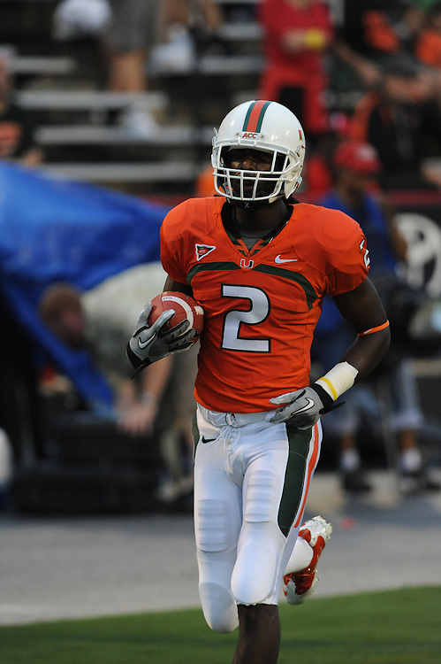 2011 Miami Hurricanes Football @ Maryland<br /> <br /> LaRon Byrd