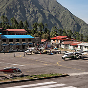 NEPAL. Everest Region, Lukla. May 20th, 2012. Lukla Airport.