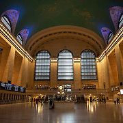 Grand Central station remains virtually empty with closed businesses and limited traffic due to the Coronavirus (Covid-19) outbreak in New York City on Monday, May 11, 2020.  Nonessential businesses have been closed and large gatherings have been banned across the state since March 22 under an emergency order issued by Governor Cuomo that is set to expire on Friday. (Alex Menendez via AP)