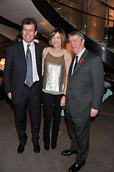 Left to right, PADDY BYNG Managing director, Asprey, the COUNTESS OF WOOLTON and STEPHEN QUINN at a party to celebrate the launch of Carol Woolton's book 'Drawing Jewels For Fashion' held at Asprey, 167 New Bond Street, London W1 on 10th November 2011.