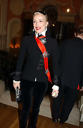 DAPHNE GUINNESS at a party to celebrate the publication of Andrew Robert's new book 'Waterloo: Napoleon's Last Gamble' and the launch of the paperback version of Leonie Fried's book 'Catherine de Medici' held at the English-Speaking Union, Dartmouth House, 37 Charles Street, London W1 on 8th February 2005.<br /><br />NON EXCLUSIVE - WORLD RIGHTS