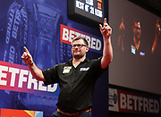 James Wade during the World Matchplay Darts 2019 at Winter Gardens, Blackpool, United Kingdom on 23 July 2019.