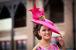 Repro Free: Punchestown 01/05/2014 Jennifer Wrynne from Leitrim pictured at Day 3 of the Punchestown Racing Festival. Picture Andres Poveda