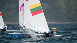 2012 Olympic Games London / Weymouth<br /> Racing day 1 Laser<br /> Laser RadialLTUVolungeviciute Scheidt Gintare