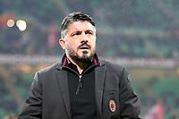 Milan-Bologna - Serie A 2017-18 - Nella foto: Gennaro Gattuso allenatore del Milan