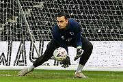 Derby County goalkeeper Kelle Roos (21) in the warm up before The FA Cup match between Derby County and Northampton Town at the Pride Park, Derby, England on 4 February 2020.