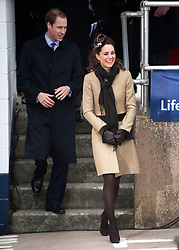 Prince William, accompanied by Miss Catherine Middleton, attend the Naming Ceremony and Service of Dedication of the Atlantic 85 Lifeboat 'HEREFORD ENDEAVOUR' at Trearddur Bay Lifeboat Station, Trearddur Bay, Anglesey.