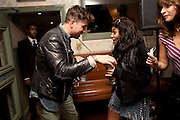 NICK GRIMSHAW; VANESSA WHITE FROM THE SATURDAYS, WranglerÕs Nottinghill Carnival Party at the Bumpkin restaurant.  Westbourne Park Rd. London W1. 28 August 2011. <br /> <br />  , -DO NOT ARCHIVE-© Copyright Photograph by Dafydd Jones. 248 Clapham Rd. London SW9 0PZ. Tel 0207 820 0771. www.dafjones.com.<br /> NICK GRIMSHAW; VANESSA WHITE FROM THE SATURDAYS, Wrangler's Nottinghill Carnival Party at the Bumpkin restaurant.  Westbourne Park Rd. London W1. 28 August 2011. <br /> <br />  , -DO NOT ARCHIVE-© Copyright Photograph by Dafydd Jones. 248 Clapham Rd. London SW9 0PZ. Tel 0207 820 0771. www.dafjones.com.