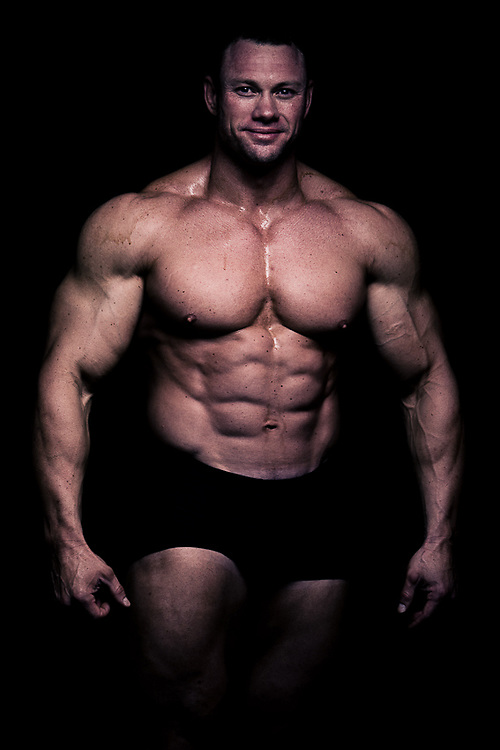 A studio shoot with Cobus van der Merwe, a future South African IFBB Pro.