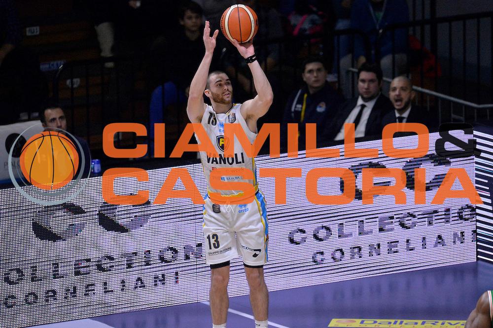 Matt Carlino<br /> Vanoli Cremona - Sidigas Avellino<br /> Lega Basket Serie A 2016/2017<br /> Cremona, 18/12/2016<br /> Foto Ciamillo-Castoria