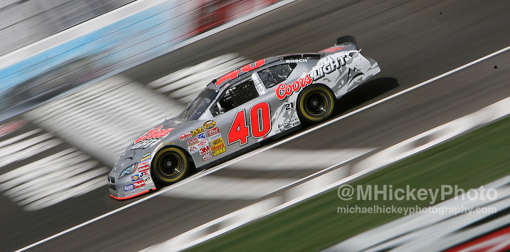 NASCAR driver David Stremme seen on the track during practice for the UAW Daimler-Chrysler 400 at Las Vegas Motor Speedway on March 9, 2007.