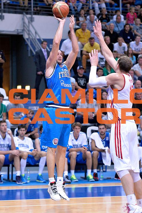 DESCRIZIONE : Mosca Moscow Qualificazione Eurobasket 2015 Qualifying Round Eurobasket 2015 Russia Italia Russia Italy<br /> GIOCATORE : Marco Cusin<br /> CATEGORIA : Tiro<br /> EVENTO : Mosca Moscow Qualificazione Eurobasket 2015 Qualifying Round Eurobasket 2015 Russia Italia Russia Italy<br /> GARA : Russia Italia Russia Italy<br /> DATA : 13/08/2014<br /> SPORT : Pallacanestro<br /> AUTORE : Agenzia Ciamillo-Castoria/GiulioCiamillo<br /> Galleria: Fip Nazionali 2014<br /> Fotonotizia: Mosca Moscow Qualificazione Eurobasket 2015 Qualifying Round Eurobasket 2015 Russia Italia Russia Italy<br /> Predefinita :