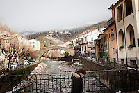 Sesta Godano, Italy - 16 January, 2013:  in Sesta Godano, Italy, on 16 January, 2013. <br /> <br /> Sesta Godano is a town in the province of La Spezia, in the Liguria region, with a population of about 1,400.  Because of a low number of children in the area, students in the elementary and seconday have been grouped in multigrade classes. According to the ISTAT (Italian National Statistical Institute) Liguria is the oldest of the Italian regions, with the highes ageing index of 232 percent compared to the national average of 144,5 percent and the EU average of 111,3 percent (data is from 2010). The average age in Liguria is 48 years old. <br /> <br /> Italy is ageing. According to ISTAT, the average age will rise from 43.5 in 2011 to a maximum of 49.8 in 2059.