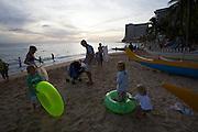 Sunset at Waikiki Beach.