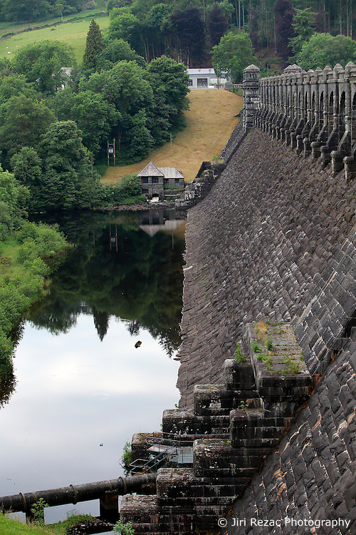 UK ENGLAND WALES LLANWDDYN 1JUL15 - Stone-built dam at Lake Vyrnwy near Llanwddyn in the river Severn catchment area.<br /> <br /> The nature reserve and the area around it are jointly managed by the Royal Society for the Protection of Birds (RSPB), and Severn Trent Water. The reserve is designated as a national nature reserve, a Site of Special Scientific Interest, a Special Protection Area, and a Special Area of Conservation.<br /> <br /> <br /> <br /> jre/Photo by Jiri Rezac / WWF UK<br /> <br /> <br /> <br /> © Jiri Rezac 2015