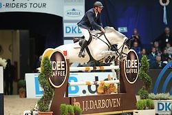 Zoer Albert, (NED), Gigolo<br /> Preis von JJ Darboten Jumping München 2015<br /> © Hippo Foto - Stefan Lafrentz