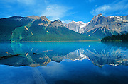Emerald Lake reflection<br /> Yoho National Park<br /> British Columbia<br /> Canada