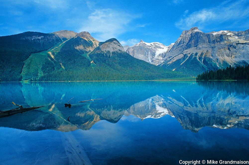 Emerald Lake reflection<br /> Yoho National Park<br /> British Columbia<br /> Canada