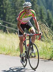 10.07.2015, Kitzbühel, AUT, Österreich Radrundfahrt, 6. Etappe, Lienz auf das Kitzbühler Horn, im Bild Victor Gonzalez de la Parte (ESP, 1. Platz Etappe) // 1st placed Victor Gonzalez de la Parte of Spain during the Tour of Austria, 6th Stage, from Lienz to the Kitzbühler Horn, Kitzbühel, Austria on 2015/07/10. EXPA Pictures © 2015, PhotoCredit: EXPA/ Reinhard Eisenbauer