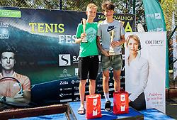 Ziga Svec at trophy ceremony at Day 10 of ATP Challenger Zavarovalnica Sava Slovenia Open 2019, on August 18, 2019 in Sports centre, Portoroz/Portorose, Slovenia. Photo by Vid Ponikvar / Sportida