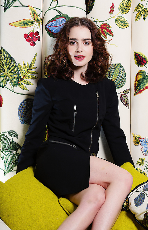 Actress &amp; daughter of Phil Collins Lily Collins poses for portraits at The Soho Hotel in London on June 3rd 2013.<br />  <br /> Photos By Ki Price 07940447610