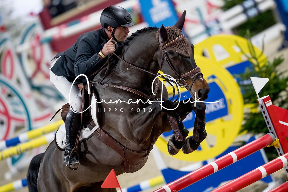 Lambrecht Vincent, BEL, S&L Rocky<br /> Jumping Mechelen 2019<br /> © Hippo Foto - Sharon Vandeput<br /> 28/12/19