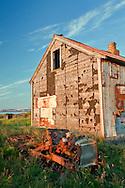 Abandoned vehicle and barn, Iceland