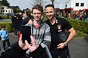 Marc Pugh (7) of AFC Bournemouth having a picture with a fan before the Premier League match between Bournemouth and Crystal Palace at the Vitality Stadium, Bournemouth, England on 7 April 2018. Picture by Graham Hunt.