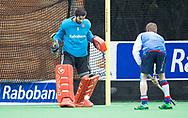 BILTHOVEN - keeper Matthijs Odekerken (SCHC) voor de competitiewedstrijd heren,  SCHC-Almere (3-2) . COPYRIGHT KOEN SUYK
