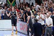 Esultanza panchina Trento, DOLOMITI ENERGIA TRENTINO vs EA7 EMPORIO ARMANI OLIMPIA MILANO, gara 4 Finale Play off Lega Basket Serie A 2017/2018, PalaTrento Trento 11 giugno 2018 - FOTO: Bertani/Ciamillo