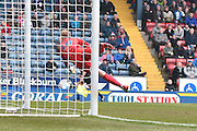 Blackburn Rovers Goalkeeper, Jason Steele in action  during the Sky Bet Championship match between Blackburn Rovers and Leeds United at Ewood Park, Blackburn, England on 12 March 2016. Photo by Mark Pollitt.