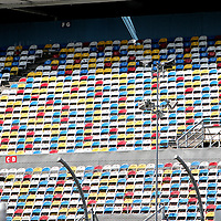 Empty seats prior to the Daytona 500 Sprint Cup race at Daytona International Speedway on February 18, 2011 in Daytona Beach, Florida. (AP Photo/Alex Menendez)