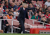 Football - 2016 / 2017 Premier League - Arsenal vs. Manchester City.<br /> <br /> Arsenal Manager Arsene Wenger  encourages his team at The Emirates.<br /> <br /> COLORSPORT/DANIEL BEARHAM