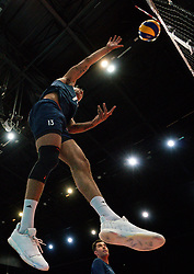 11-08-2019 NED: FIVB Tokyo Volleyball Qualification 2019 / Netherlands - USA, Rotterdam<br /> Final match pool B in hall Ahoy between Netherlands vs. United States (1-3) and Olympic ticket  for USA / Benjamin Patch #13 of USA