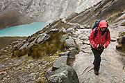 Santa Cruz Trek, Peru - climb near Punta Union summit