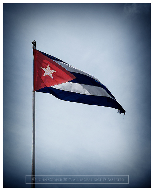 Cuban flag.