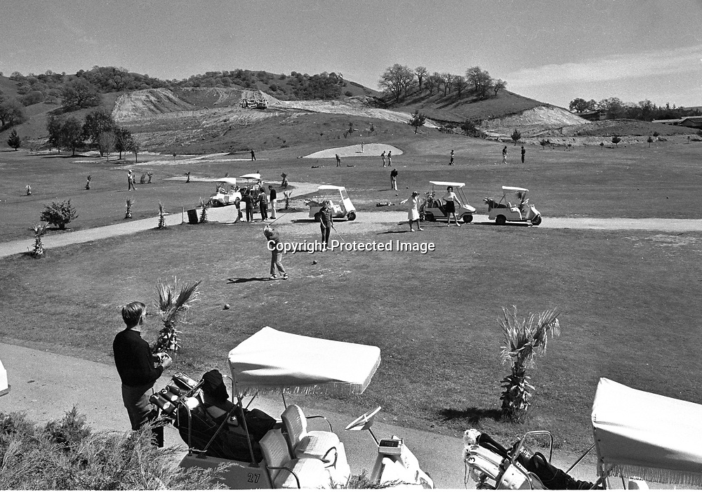First tee at Round Hill Golf & CC. <br />1973 photo