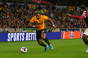 Adama Traoré of Wolverhampton Wanderers during the Europa League play off leg 2 of 2 match between Wolverhampton Wanderers and Torino at Molineux, Wolverhampton, England on 29 August 2019.