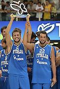 TRENTO 09/08/2013 - TRENTINO BASKET CUP ITALIA-POLONIA<br /> NELLA FOTO STEFANO MANCINELLI MARCO BELINELLI<br /> FOTO CIAMILLO