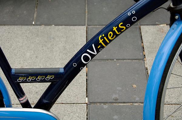 Nederland, Nijmegen, 24-4-2006..OV-fiets, openbaar vervoer, fiets, ovfiets. Fiets tijdelijk te gebruiken vanaf treinstation...Foto: Flip Franssen/Hollandse Hoogte