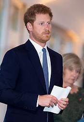 Prince Harry attends Land Mine Free Event as a speaker at The Orangery, Kensington Palace in London on 4 April 2017.<br /><br />4 April 2017.<br /><br />Please byline: Vantagenews.com