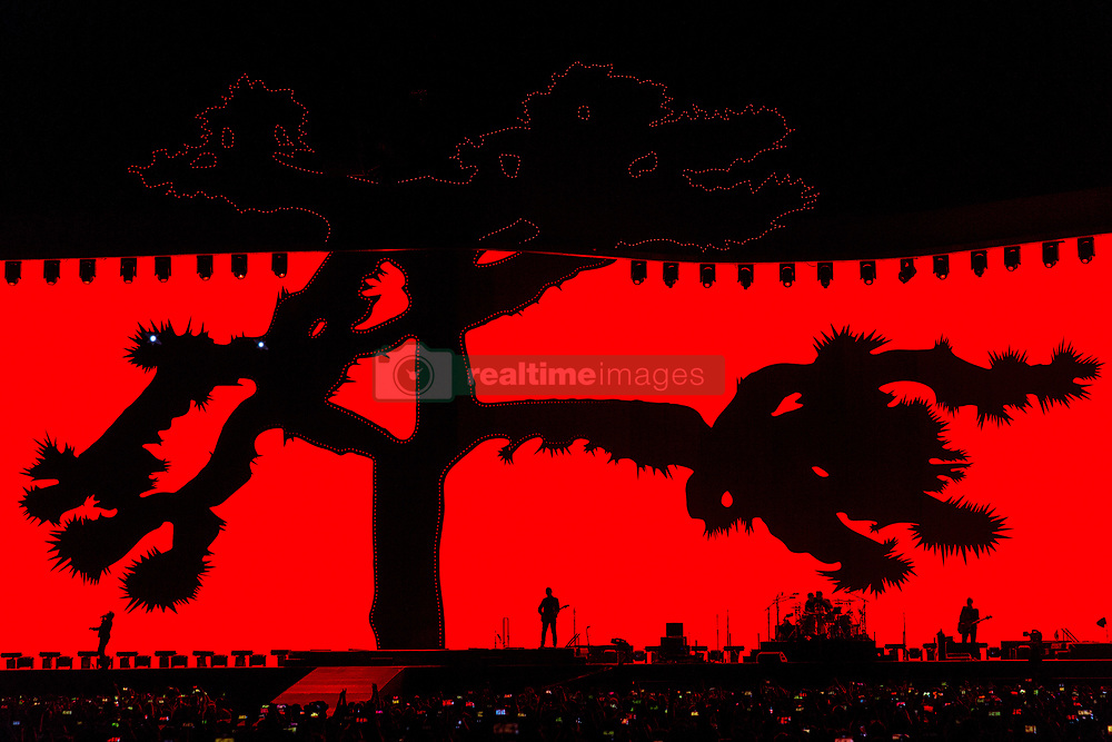 June 4, 2017 - Chicago, Illinois, U.S - BONO, THE EDGE, LARRY MULLEN JR. and ADAM CLAYTON of U2 during 30th Anniversary of the The Joshua Tree Tour at Soldier Field in Chicago, Illinois (Credit Image: © Daniel DeSlover via ZUMA Wire)