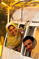 Egyptian man and girl, Saqqara, Egypt