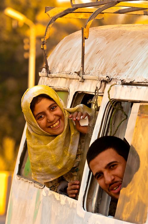 Egyptian man and girl, Saqqara, Egypt